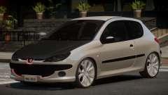 Peugeot 206 Tuned V1.0 для GTA 4
