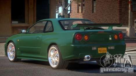 Nissan Skyline R34 GTR V1.0 для GTA 4