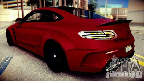 Mercedes-Benz C63 Coupe AMG Prior Design для GTA San Andreas