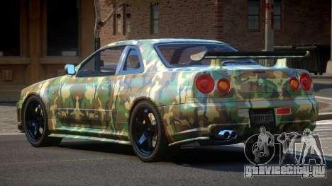 Nissan Skyline R34 SL PJ1 для GTA 4