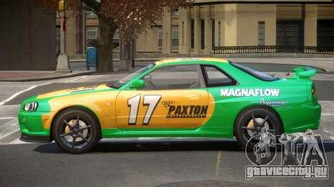 Nissan Skyline R34 GT-Style PJ3 для GTA 4