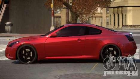 Infiniti G37 S-Tuned для GTA 4