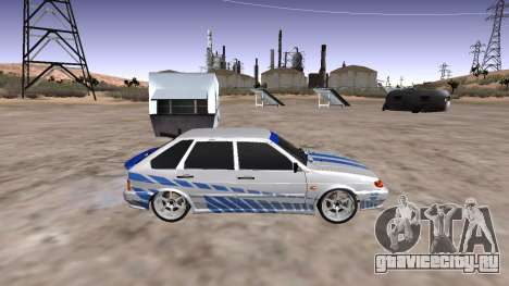 VAZ 2114 (Skyline R34 Paint Job) для GTA San Andreas