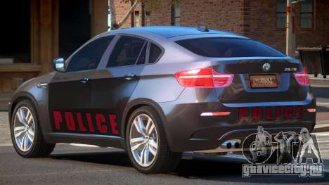 BMW X6M GL Police для GTA 4