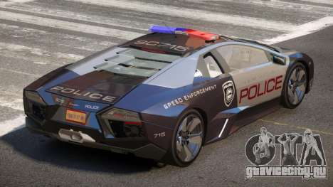 Lamborghini Reventon MS Police для GTA 4