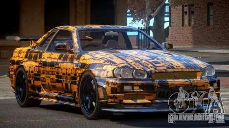 Nissan Skyline R34 SL PJ5 для GTA 4