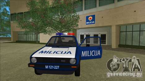 VW Golf Mk1 Yugoslav Yugoslav Milicija (police) для GTA Vice City