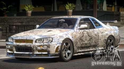 Nissan Skyline R34 SL PJ4 для GTA 4