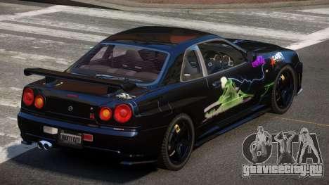 Nissan Skyline R34 SL PJ6 для GTA 4