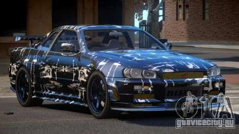 Nissan Skyline R34 SL PJ2 для GTA 4