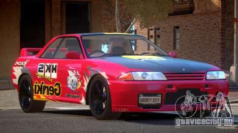 Nissan Skyline R32 V-Style PJ3 для GTA 4