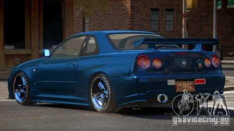 Nissan Skyline R34 DT для GTA 4