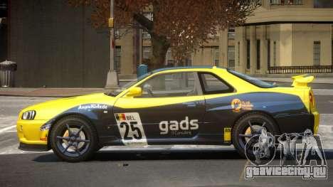 Nissan Skyline R34 GT-Style PJ5 для GTA 4