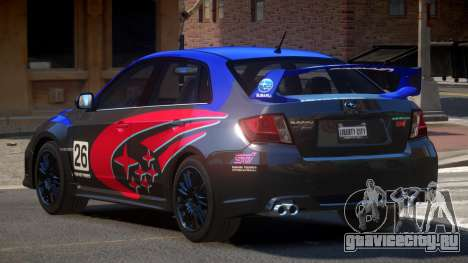 Subaru Impreza WRX SR PJ4 для GTA 4