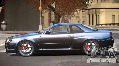 Nissan Skyline R34 SB для GTA 4