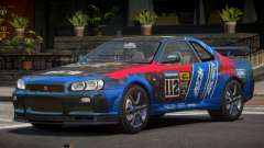 Nissan Skyline R34 GT-Style PJ1 для GTA 4