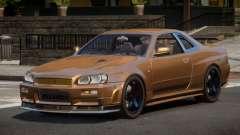 Nissan Skyline R34 SL для GTA 4