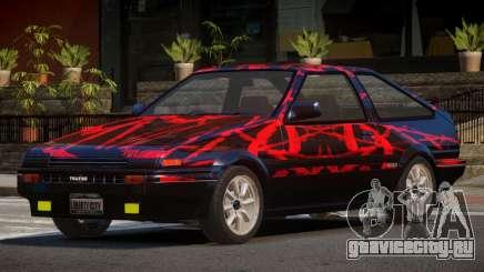 Toyota Corolla AE85 GT PJ1 для GTA 4
