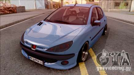 Peugeot 206 Blue для GTA San Andreas