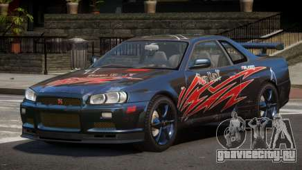 Nissan Skyline R34 GT-Style PJ6 для GTA 4