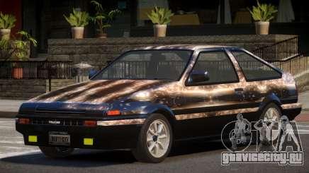 Toyota Corolla AE85 GT PJ2 для GTA 4