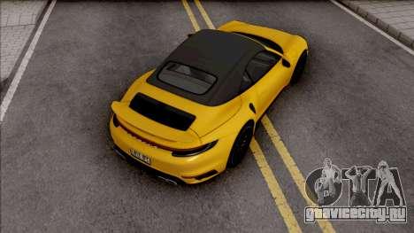 Porsche 911 Turbo S Cabrio (992) для GTA San Andreas