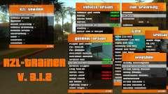 RZL-Trainer v3.1.2 - Удобное чит-меню как в GTA5 для GTA San Andreas