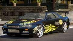 Nissan Skyline R34 BS PJ1 для GTA 4