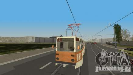 Трамвай КТМ-5М3 из игры City Car Driving для GTA San Andreas