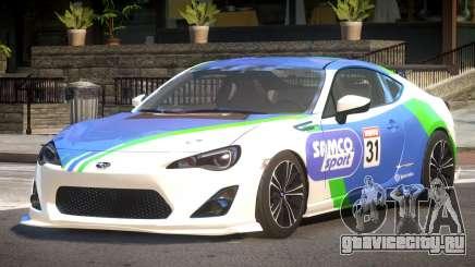 Subaru BRZ GT Sport PJ2 для GTA 4