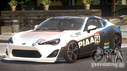 Subaru BRZ GT Sport PJ4 для GTA 4