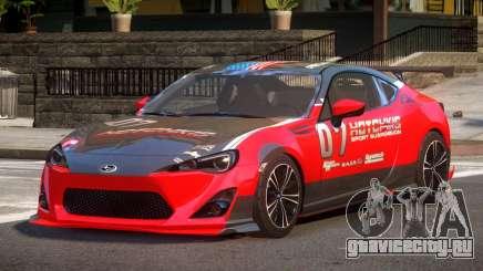 Subaru BRZ GT Sport PJ1 для GTA 4