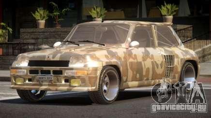 Renault 5 RS PJ1 для GTA 4