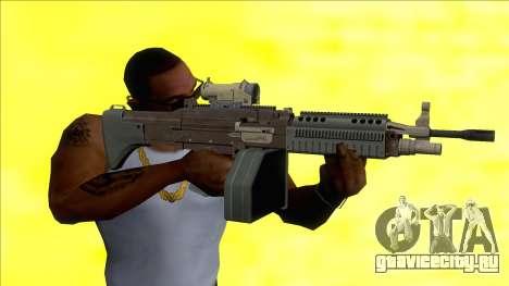 GTA V Combat MG Black Scope Big Mag для GTA San Andreas
