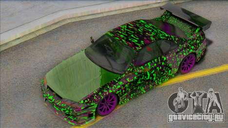Nissan Skyline GTR Sticker Bomb для GTA San Andreas