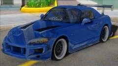 HONDA S2000 Blue with Spoiler для GTA San Andreas