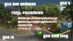 Pricedown - шрифт логотипа GTA для GTA San Andreas
