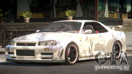 Nissan Skyline R34 GS PJ2 для GTA 4