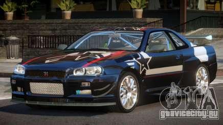 2003 Nissan Skyline R34 GT-R PJ1 для GTA 4