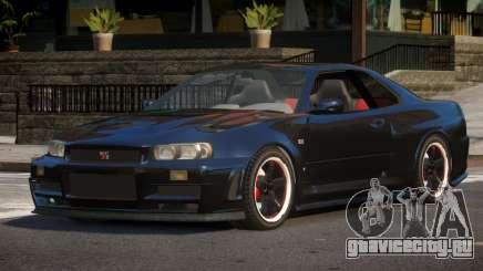 Nissan Skyline R34 GS для GTA 4
