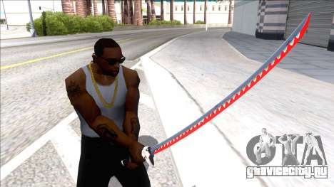 Red Genji Katana для GTA San Andreas