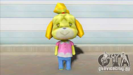 Animal Crossing Isabelle Informal Clothes Skin для GTA San Andreas