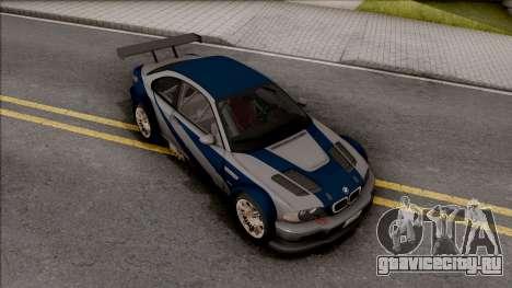 Razor BMW M3 GTR для GTA San Andreas