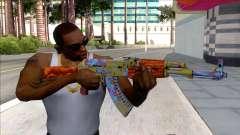 CSGO AK-47 Case Hardened для GTA San Andreas