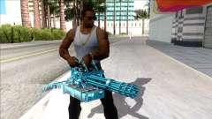 Weapons Pack Blue Evolution (minigun) для GTA San Andreas