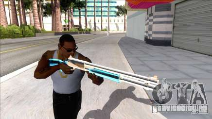 Weapons Pack Blue Evolution (chromegun) для GTA San Andreas