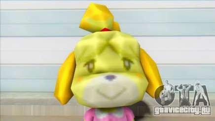 Animal Crossing Isabelle Informal Clothes Skin для GTA San Andreas