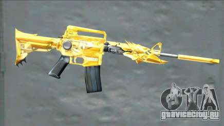 CrossFires M4A1 Iron Beast Noble Gold для GTA San Andreas