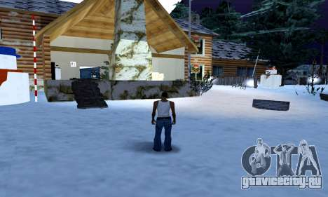 Christmas House and Santa Maria Beach v0.1 для GTA San Andreas