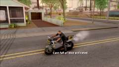 Can Not Fall Off The Bike для GTA San Andreas